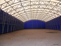 Вид внутри легкого склада